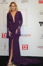 Keira Maguire arrives on the red carpet at the 59th annual TV Week Logie Awards on April 23, 2017 at the Crown Casino in Melbourne, Australia. Picture: AAP