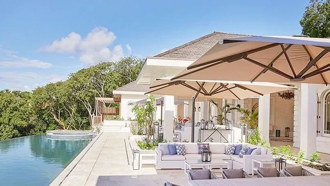 Villa Antibes in Mustique, where the Duke and Duchess of Cambridge stayed with their family. Picture: mustique-island.com/villa/antilles