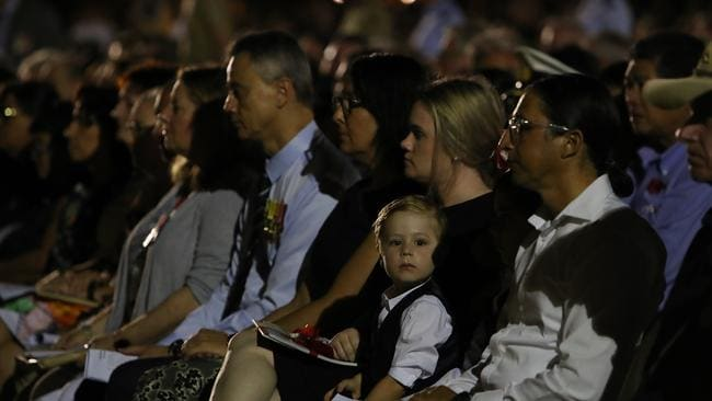 Crowds attending the Dawn Service in Darwin this morning.