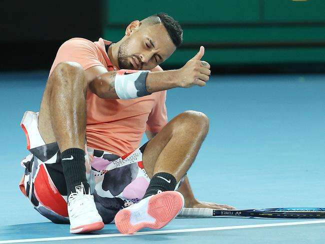 Kyrgios is playing the tournaments, not the man.