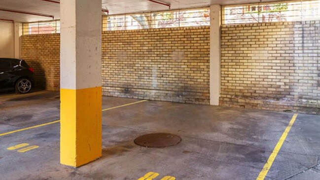 This parking spot in the Chimes Building in Potts Point is for sale again after setting the record price for a car space when it sold for $264,000 in 2015.