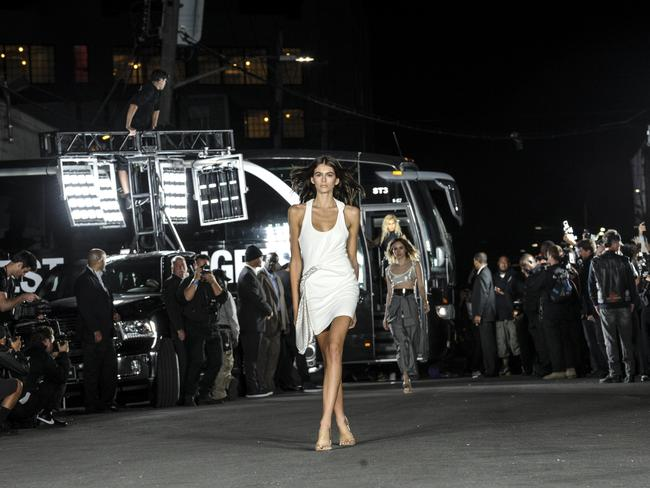 The Brooklyn version of Alexander Wang's runway was held on a street in Bushwick.