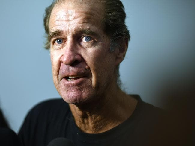 Australian filmmaker James Ricketson addresses the media at Sydney International airport after he was freed from jail in Cambodia. Picture: Saeed KHAN / AFP