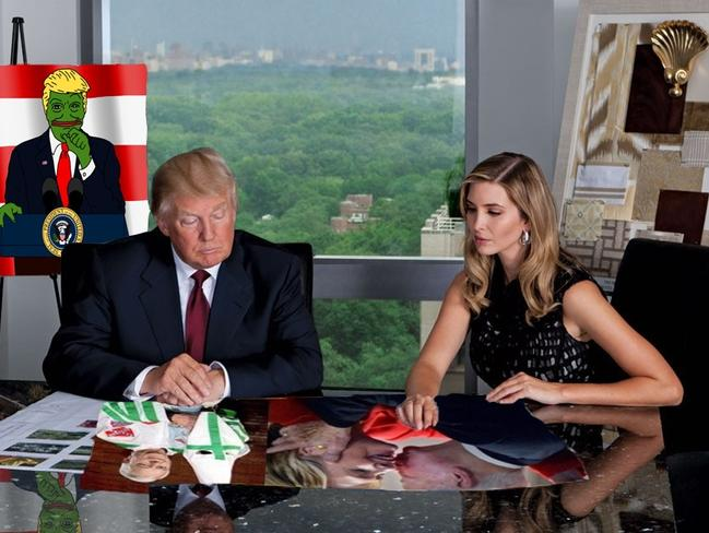 'Donald and Ivanka planning the next dank meme'. Picture: Reddit/Ask_If_Im_A_Cactus