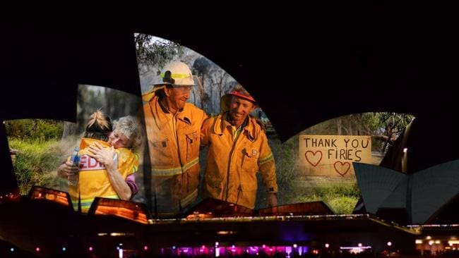 Australian bushfires: Sydney Opera House lights up sails for Bushfire Relief