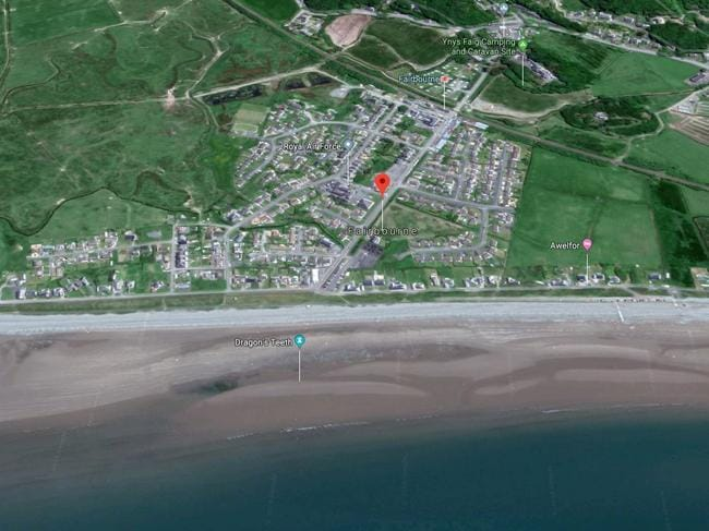 The sea threatens to swamp the town within a generation. Picture: Google Maps