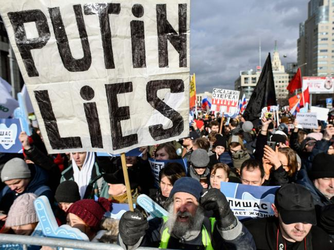 Russians fear the government's plan could be used to stifle dissent. Picture: Alexander Nemenov/AFP