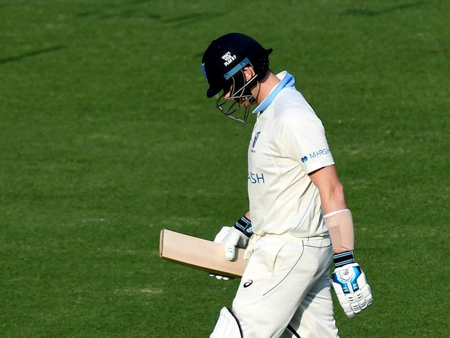 Steve Smith scored a duck in the Sheffield Shield, still exhausted after the Ashes series.