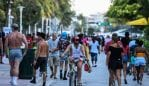 "Miami, Florida has been declared the ""new Wuhan"" by one expert as coronavirus cases continue to surge. Picture: Chandan Khanna/AFP"