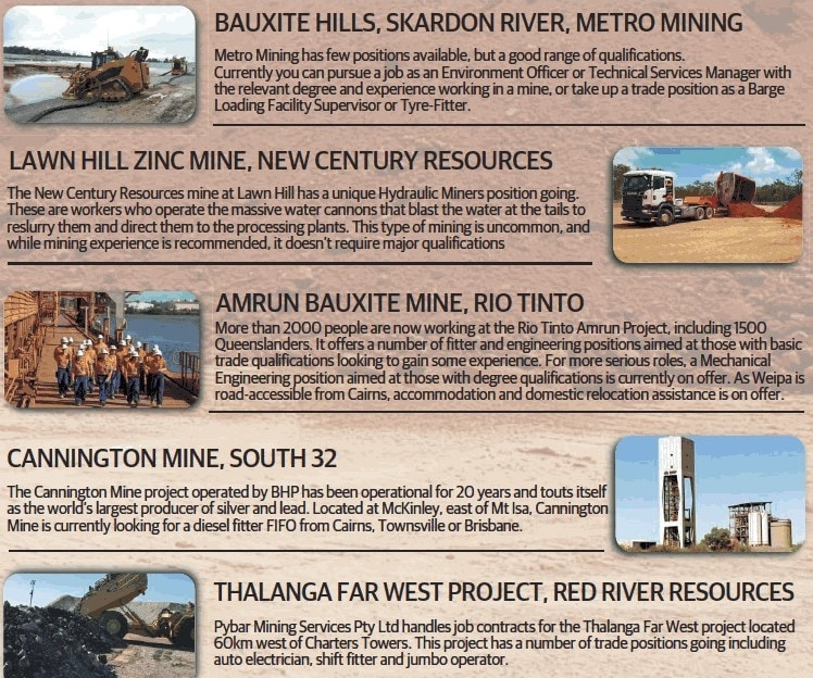 Cairns employment: Far North mining jobs on offer for all skills