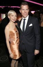 Michelle Williams and Kevin Walsh attend the 89th Annual Academy Awards Nominee Luncheon at The Beverly Hilton Hotel on February 6, 2017 in Beverly Hills, California. Picture: AP