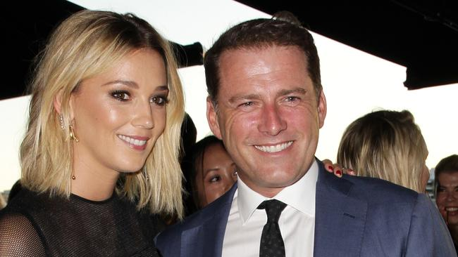 Jasmine Yarbrough and Karl Stefanovic at the Harpers Bazaar 20th Anniversary Celebration. Picture: Christian Gilles