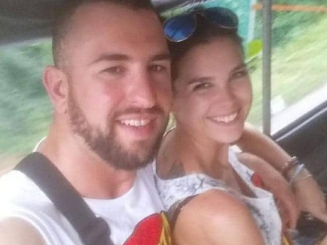 Shani Bourne and her partner Sam William. Picture: GoFundMe
