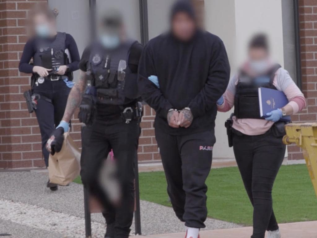 Australian police raids in connection with Operation Ironside.