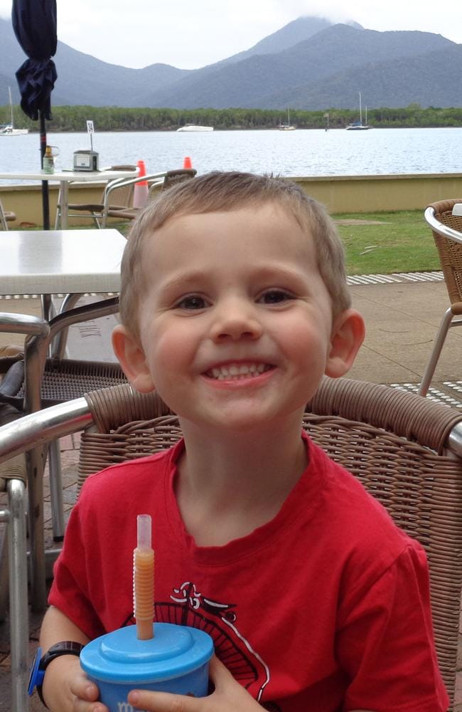 """William Tyrrell vanished three years ago and a judge said the little boy was """"probably dead"""". Picture: AAP."""