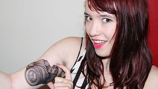 Photography tattoos: never leave home without your camera. Photo: CarlyIngram/Flickr