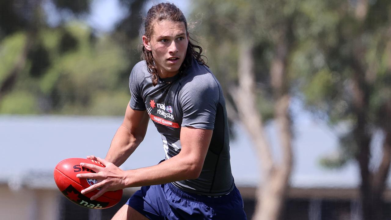Archie Perkins has risen up draft boards to become a top 10 prospect. Photo: Michael Klein