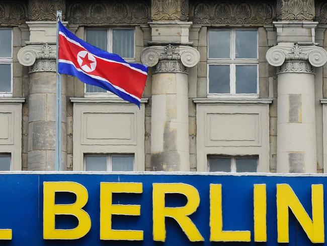 The German government said it will shut down the hostel after it emerged that the site is North Korean embassy property and had been leased in violation of UN rules. Picture: Tobias Schwarz/AFP