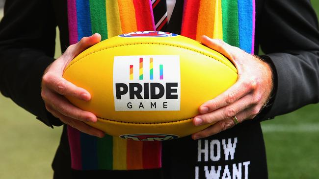 The Pride footy. Photo: Michael Dodge/Getty Images