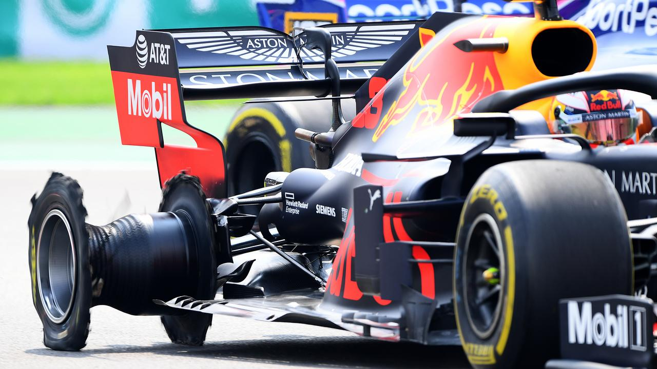 The puncture which ruined Verstappen's Mexican Grand Prix. Picture: Clive Mason