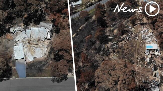 Drone footage shows devastation of Malua Bay and Mogo bushfires