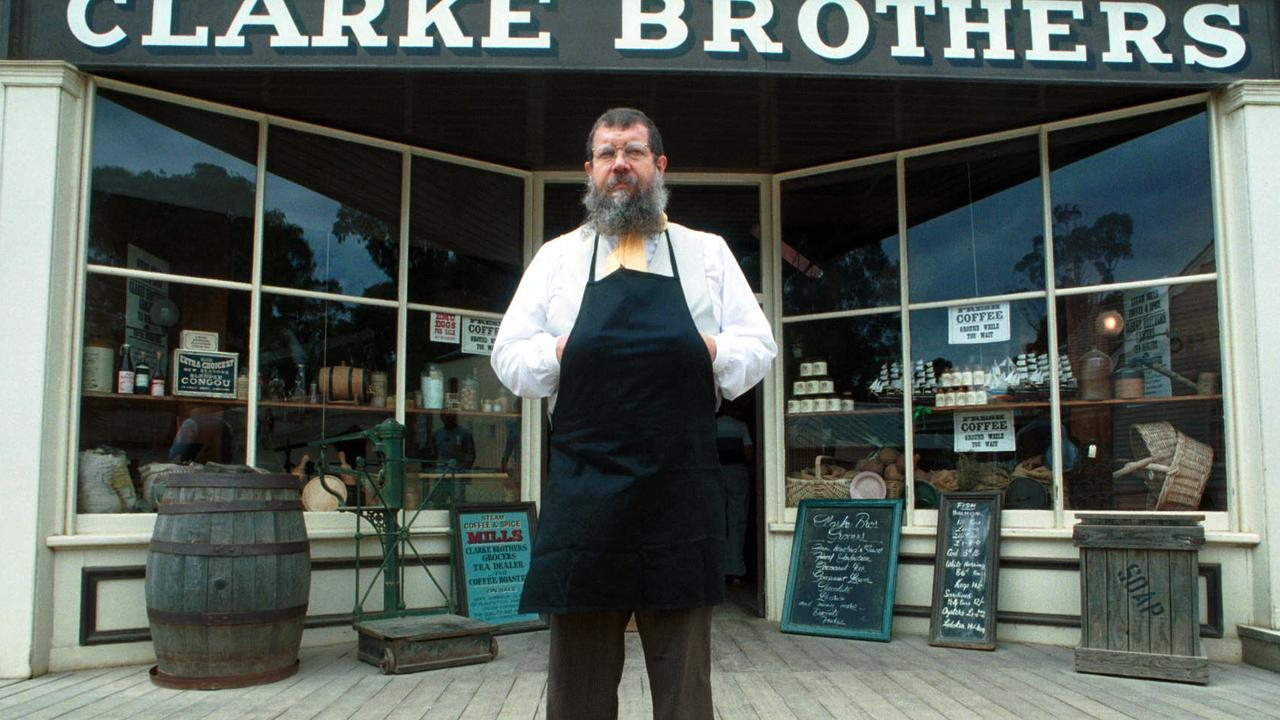 Shopkeeper Murray Wright at Clarke Brothers grocery store at Sovereign Hill, Ballarat. Picture: David Crosling