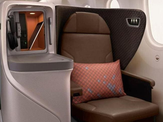 A nice little compartment on the side. Picture: Singapore Airlines