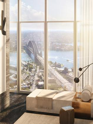 An artist's impression of the penthouse that sold for an Australian record $140 million. Picture: NSW Real Estate