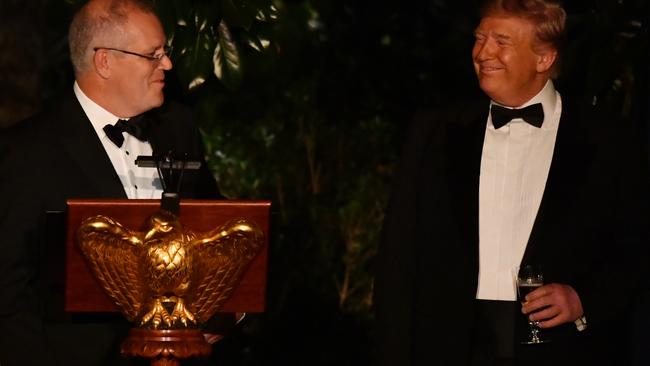 China's WTO status is one of many areas of agreement for Scott Morrison and Donald Trump. Picture: AAP/Mick Tsikas