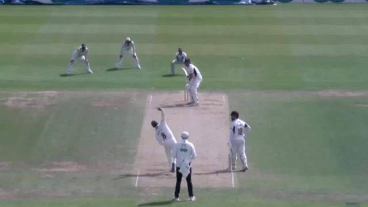 Moeen Ali tries his hand at some medium pace