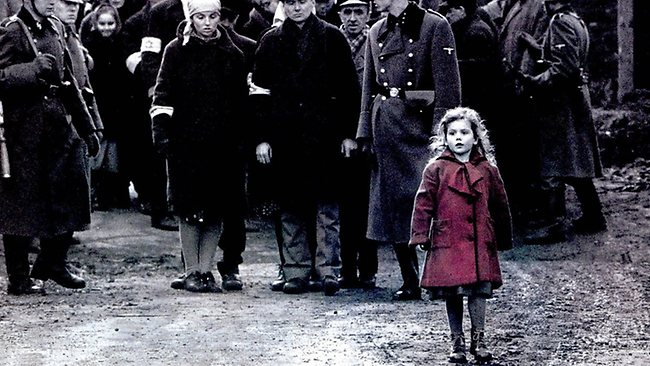 Girl in the red coat in the Spielberg film Schindler's ...
