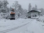 Heavy snow fall at Cradle Mountain. Picture: CRADLE MOUNTAIN HOTEL