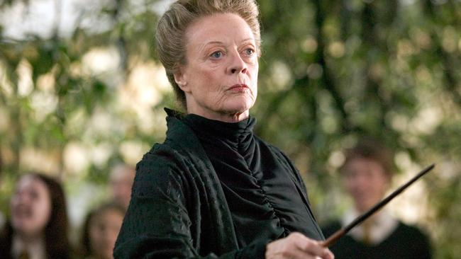 Maggie Smith played Professor McGonagall in 7 of the 8  <i>Harry Potter </i>films <i>. </i>Picture: Supplied.