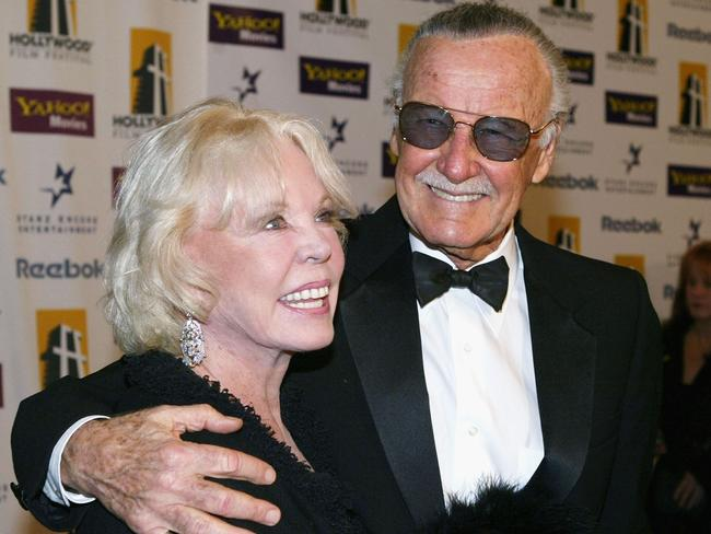 Stan Lee's wife of 69 years, Joan, died last year. Picture: Getty