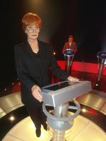 Cornelia Frances in 2001 as the host of The Weakest Link. Picture: Channel Seven