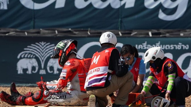 Lorenzo being helped after a horror smash