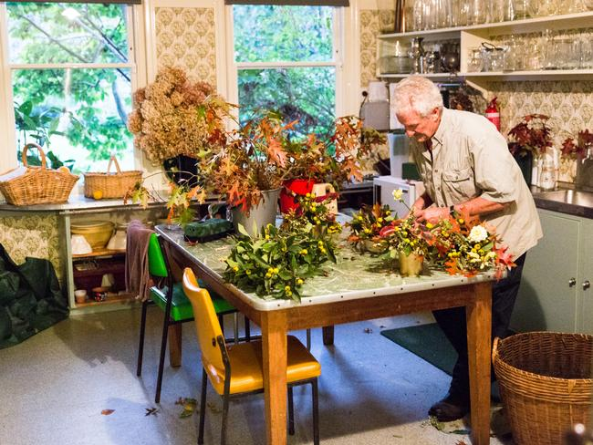 These days Mr Morrison has taken over the duty of arranging flowers, something Dame Elisabeth loved doing.