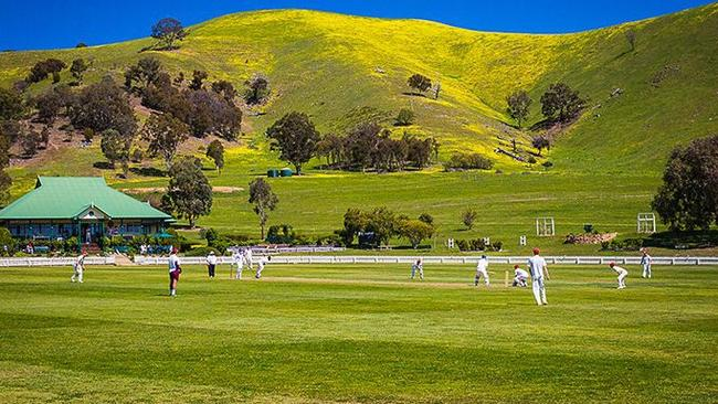 The hills surrounding the ground are scenic.
