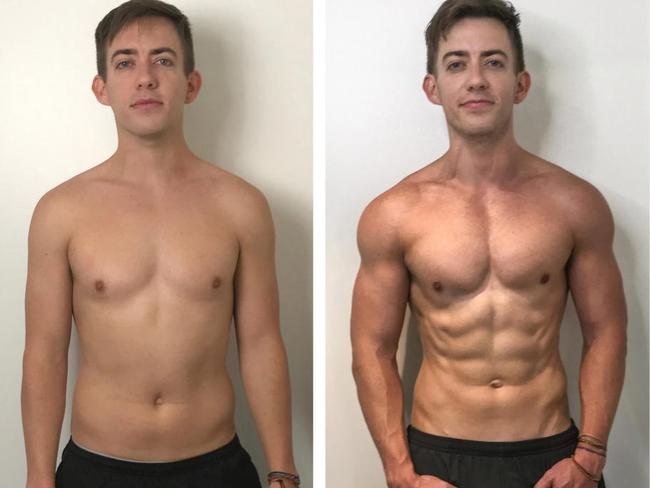 Kevin McHale's 12-week body transformation. Picture: UP Fitness