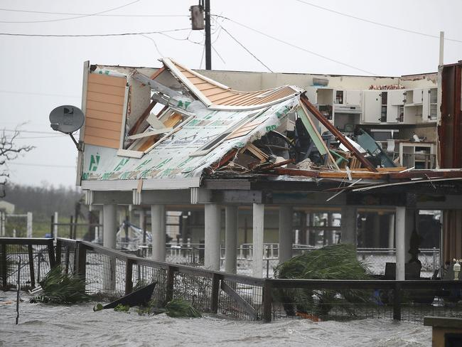 A damaged home is seen after Hurricane Harvey passed through in Rockport, Texas. Picture: Getty