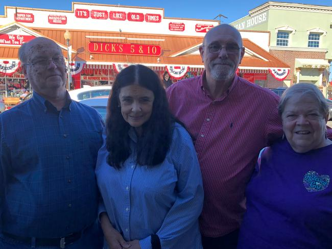 Bill Miller, Shelley Lukens, Rich Lukens and Barb Miller are typical visitors to the town of Branson, and they are pro-Trump and pro-life.