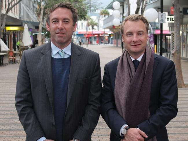 Homeless appeal, agent James Eyden and Manly MP James Griffin.