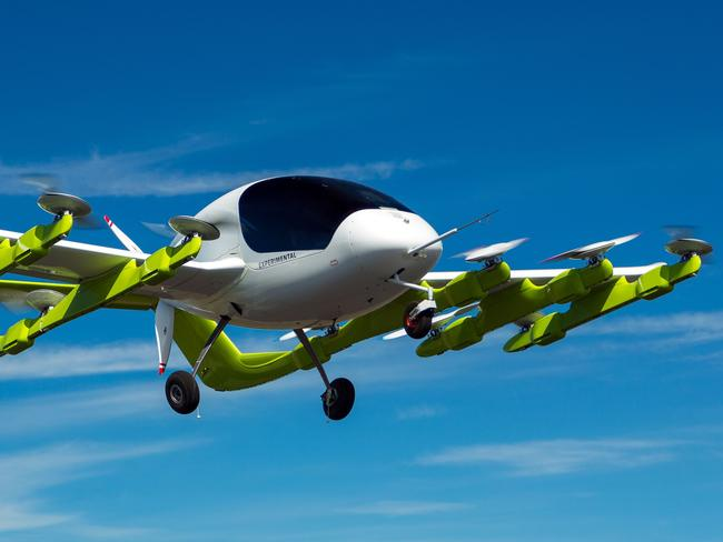 Zephyr Airworks, a subsidiary of Larry Page's company Kitty Hawk, will develop and test the futuristic air taxis. Picture: AFP Photo/Zephyr Airworks/Richard Lord
