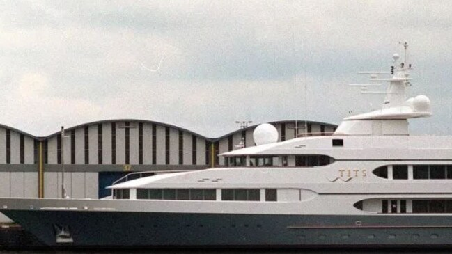 Prince Jefri Bolkiah's yacht, called 'Tits'. Picture: Big Pictures