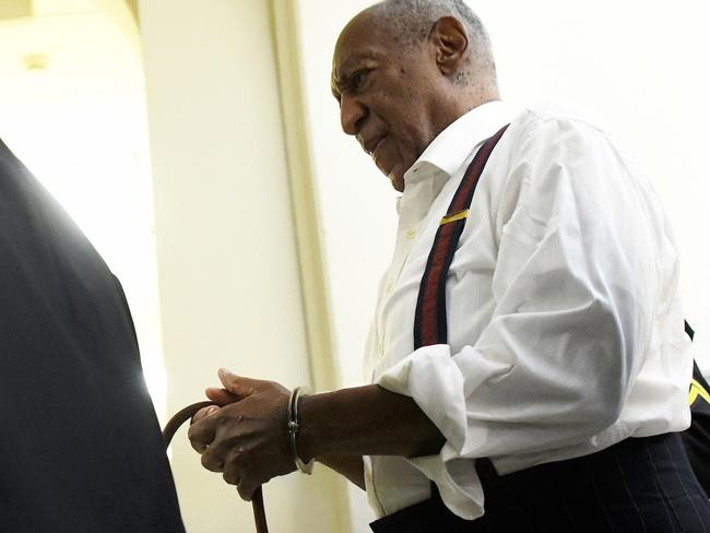 Cosby was taken away in handcuffs following the epic legal battle. Picture: Mark Makela/Pool Photo via AP