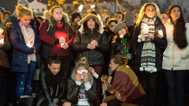 Heartbreak ... More than a thousand people took part in a vigil after it was announced that the young lady had died.
