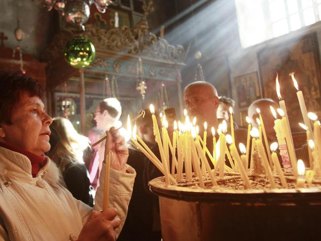 It's one of the most holy places in the world, but the Church of the Nativity is facing peril. Picture: AFP/Musa Al-Shaer