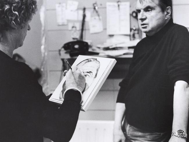 Brett Whiteley and Francis Bacon. Picture: John Edwards