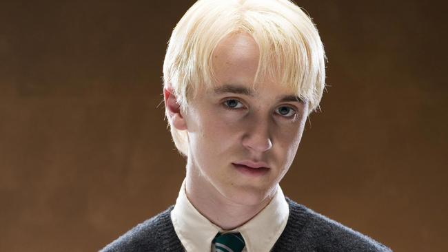 Actor Tom Felton in character as Draco Malfoy from the Harry Potter films, set to appear at Supanova this weekend.