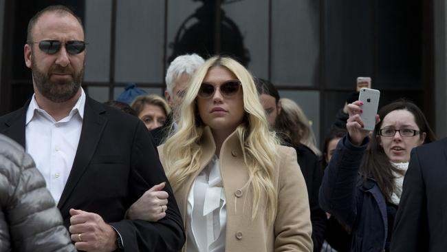 Producer Dr. Luke says the singer is slinging falsehoods and ruining his reputation to try to weasel out of her recording contract and strike a new deal. Picture: AP Photo/Mary Altaffer.